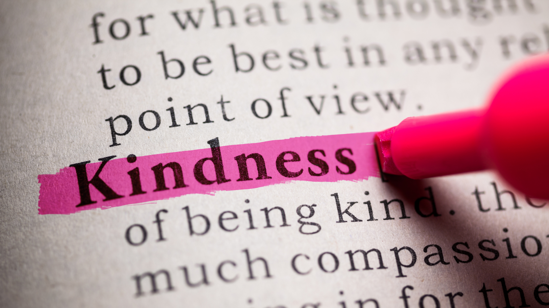 Editorial: Remember to be kind